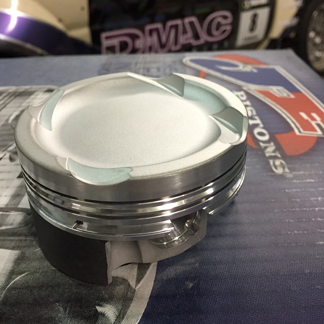 I'm delighted to welcome @jepistons to the European team for 2015. #jepistons supplied the piston for the s14 last season at very short notice and they have just sent me 2jz Pistons for the #dmac240 with their thermal Barrier and tuff skirt coatings. They are also custom making Pistons for my special project #dmac #2jz