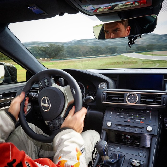 Inboard view of drifting the #Lexus #RCF. I could do this all day - swerving from edge to edge, blowing through tires all while listening to Santana on the Mark Levinson Premium Sound System. #perksofthejob