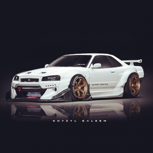 R34 Wide-Body Render by @the_kyza
