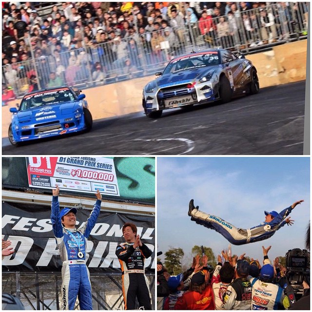 1st place #D1GP Rd1 in Odiaba for #MasatoKawabata and the #ToyoTiresDrift X #TRUSTracing 35RX Spec D GT-R. Great start to the 2015 @granturismo_official @d1gpse ! #tokyodrift