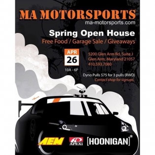 Come by @mamotorsports today to see the shop, talk cars, and hang out. We even have some giveaways! See you there.