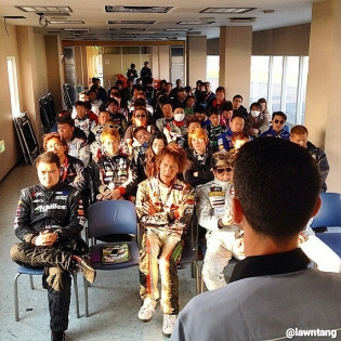 Formula Drift Japan Drivers Meeting - Photo from @lawntang