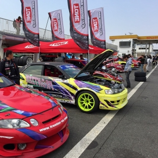 Main day of @formulad Japan Rd.1. Top 32 practice is about to start.