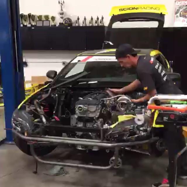 Shawn, Aldo & Steph doing a 15 second #2AR engine install! So happy