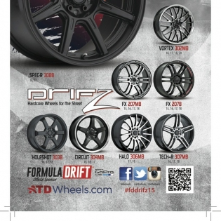 Tag a photo of yourself at and and win a set of the Drifz wheels!