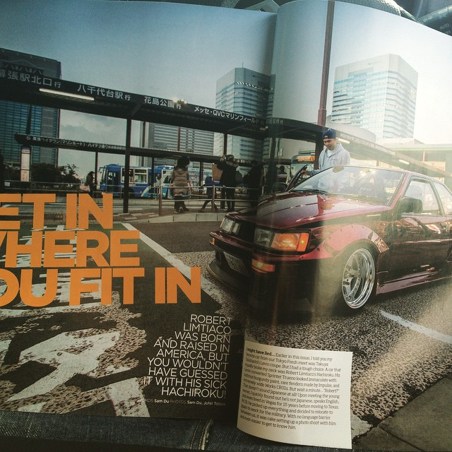 The homie Robert got a good feature in the new @superstreet such a sick car. If you haven't already go grab your copy of the Japan issue for reals. It's best this year so far.