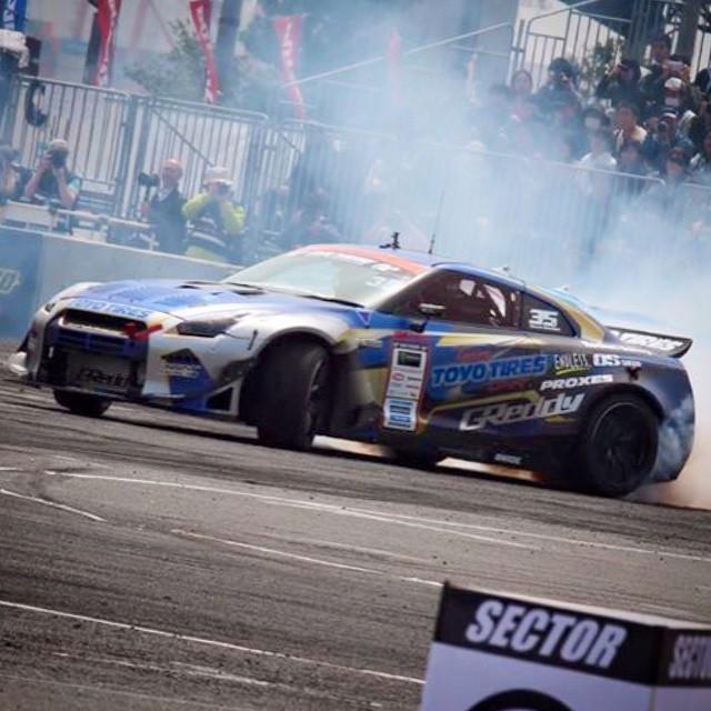 #masatokawabata takes the #D1GP Rd.1 Odiaba Win over the weekend. #ToyoTiresDrift X #TRUSTracing 35RX SpecD GT-R