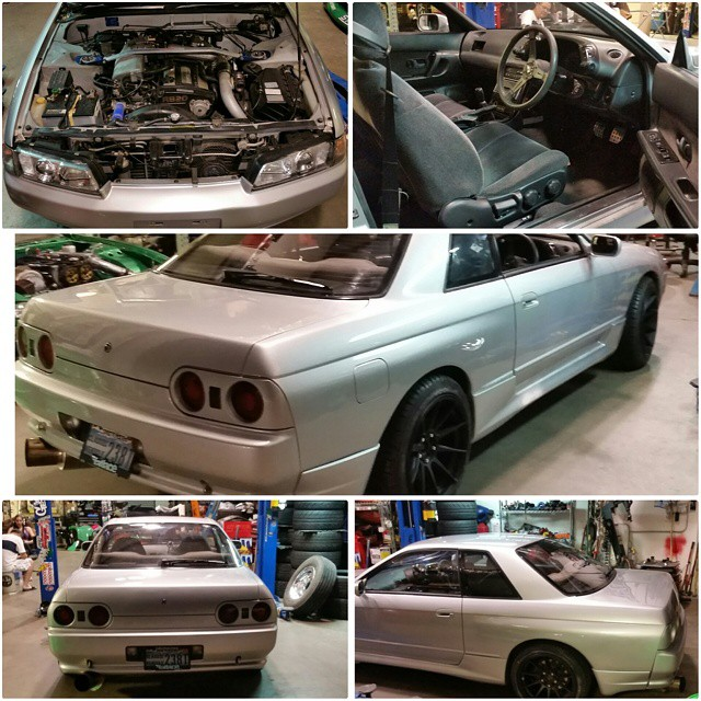 89 R32 GTS-T Skyline. $15,900 Very good condition, refinished exterior, oem sideskirts and rear valances, 5 speed oem rb20det, GReddy downpipe, 3inch test pipe, apex Gt spec exhaust, lowered on jdm coilovers brand unknown, isis tension rods, z32 front brake upgrade, STR 524 17x9 with new tires, just maintenanced water pump, timing belt, all accessory belts thermostats and radiator hoses, radiator cap, spark plugs and oil change. This car is registered and ready to be a daily driver. Cold A/C Contact sales@getnutslab.com ONLY FOR SERIOUS INQUIRIES. #getnuts #getnutslab #forrestwang #forsale #skyline #r32 #rhd #oem #jdm