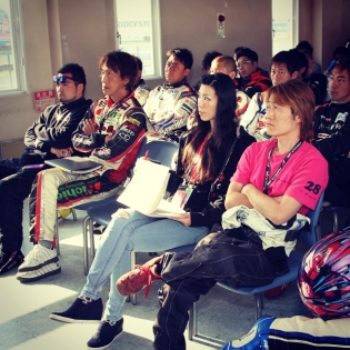Drivers meeting,2015 Formula drift japan in Tsukuba Circuit.