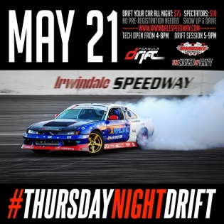 "Join us tonight for THURSDAY NIGHTS GO ""SLIDEWAYS"" at IRWINDALE Speedway http://t.co/5naexfPVVy http://t.co/icfXdJST9U"