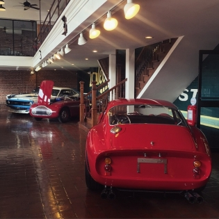 Just got to @redlineresto for a new episode of on @networka. This showroom has the craziest collection of cars I have ever seen... A Ferrari 250GTO, peppered in with a bad ass Cuda and a Stanguellini. And this is just what fits in this photo. More to come!