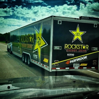 Keep on truckin' - almost there! Rig driver Aldo making his way east in time for Thursdays practice session at Road Atlanta. This is one of my absolute favorite tracks - can't wait for this weekend! @fredricaasbo