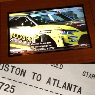 Made it to Atlanta in time to catch the Round 1 broadcast on an airport sports bar! Who else is watching CBS Sports right now? @fredricaasbo
