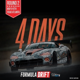 May the 4 be with you. 4 days till we kick off Round 2 - Road Atlanta @deankarnage @achillestire