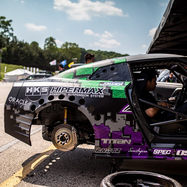 The HKS Hipermax IV suspension and fully built VR38 along with the GT1000 turbo kit was yet again flawless at Formula D Atlanta. Clutch problems would not let Daigo use the car to its full potential yet again like in Long Beach. Hoping third time is a charm in Florida next month! #HKS #hksusa #daigosaito #hipermax #madeinjapan #GT1000 #vr38 #hkspower #r35 #fdatl #roadatlanta #formuladrift #GTR