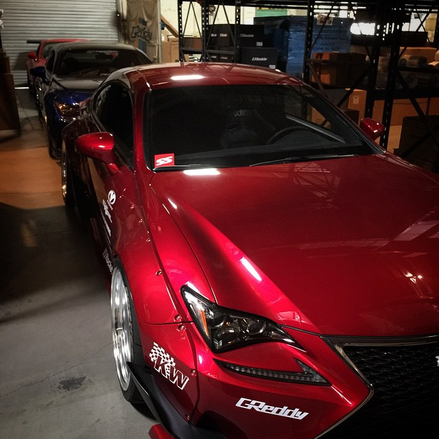 The morning line-up #inthegreddygarage. #Lexus #RC #RCF #GTR.