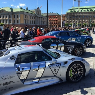 The starting grid of @gumball3000 It starts tomorrow morning!