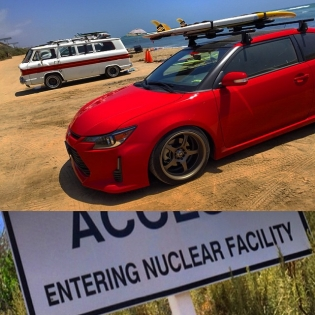 Today's mission: Catch some waves by the nuclear reactors in San Onofre, California!