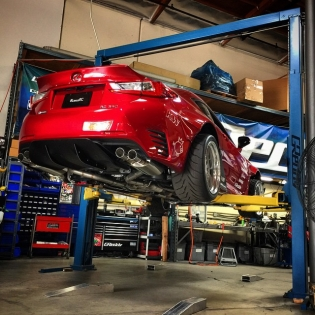We have a Bunny on the lift today. #inthegreddygarage. The first batch of aero kits are now here. Take advantage of our #ShopGReddy.com and get 10%off the MSRP.