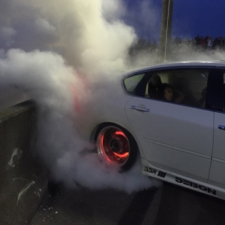 Why not end the night at @streetdriventour with an enormous burnout at the @thehoonigans tire massacre! Today was an absolute blast and I can't wait for round two.