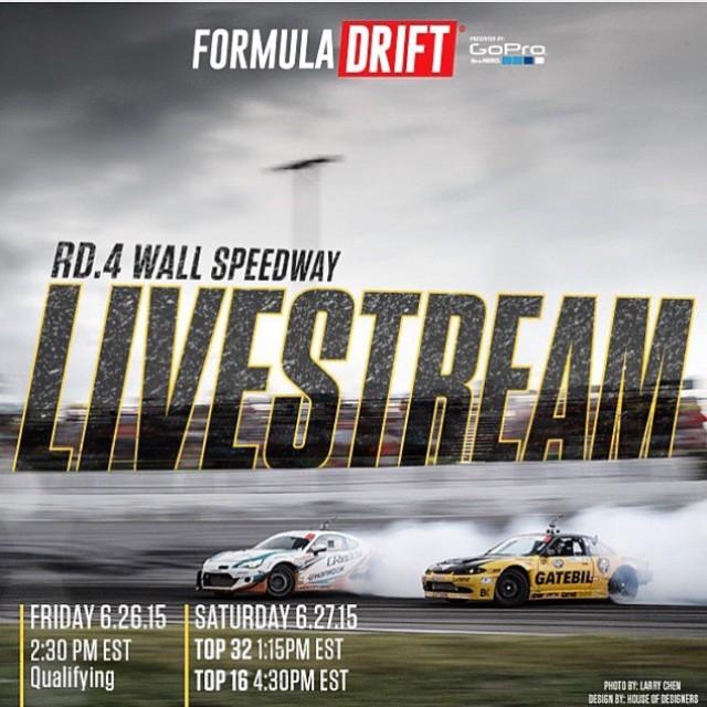 @formulad Livestream times for Round 4 this weekend. #fdnj #formulad #formuladrift #drifting
