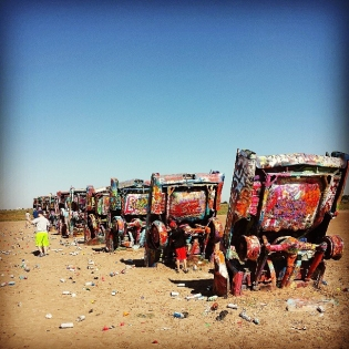 Cadillac Ranch. Texas. Yep finally made the stop, to cool to pass up.