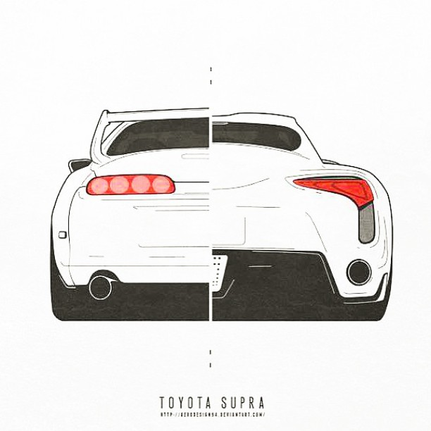 Just a cool picture I saw posted online. The new supra will be cool to see | #dai9 #trd #toyota #supra #2jz #turbo #hybrid #mcm
