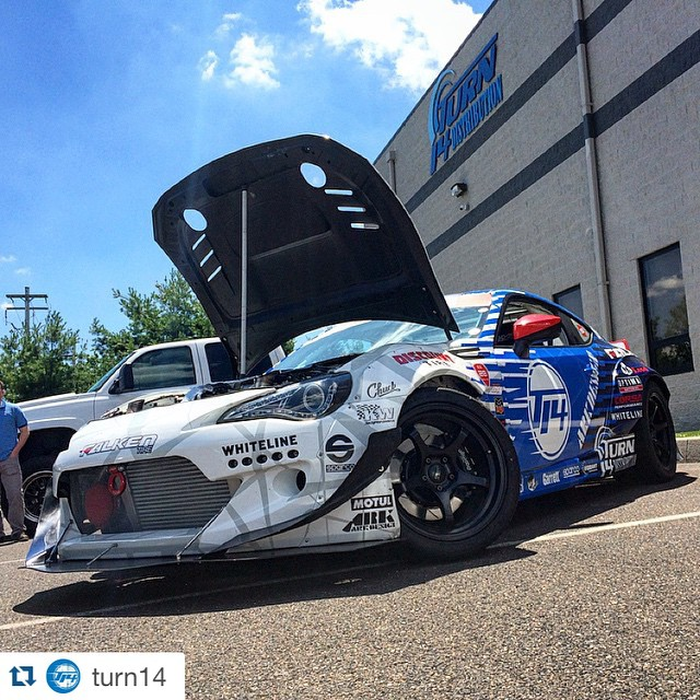 #Repost @turn14 with @repostapp. ・・・ Special guest at the office today! @daiyoshihara and the @turn14 sponsored @formulad Subaru BRZ stopped by ahead of this weekend's #FDNJ event! #Dai #daiyoshihara #yoshihara #slideordai #dai9 #teamdai9 #subaru #brz #formulad #formuladrift #drift #drifting #driftcar #racecar #wcw #widebodywednesday #superstreet #jdm #stance #turn14 #t14 #turn14wall #t14wall
