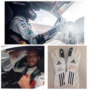 @adidasmotorsport and I are giving away a signed pair of my original #adistargloves. These are the same ones I wear in @formulad. Just follow both my Instagram and @adidasmotorsport accounts and you are eligible to participate in this giveaway. The winner will be announced within the next week! So head on over and give a follow.