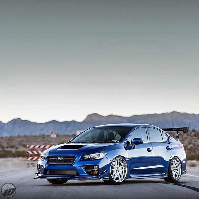 @jdmwheel Subaru STI on WORK Emotion CR2P F:19x10J +35mm R disk / R:19x10J +35 A disk #artofwheel