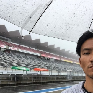 Arrived at Fuji Speedway! Looks like it will be raining all weekend...