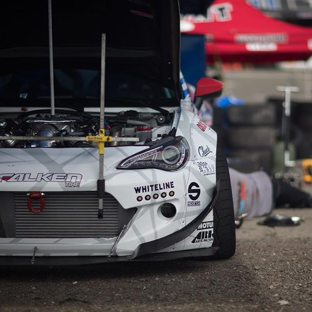 Made it to the big show tomorrow. Let's hope for dry weather. | #dai9 #formuladrift #fdsea #falkentires #turn14 #arkdesignusa #discounttire #sparco #whitelines #motul #kw