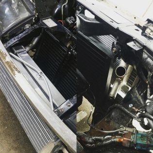 Ocdworks z32 vvti v161 swap with custom radiator set up and full AC.