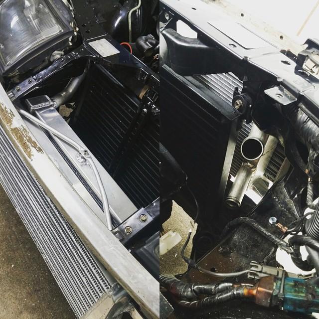 Ocdworks z32 vvti v161 swap with custom radiator set up and