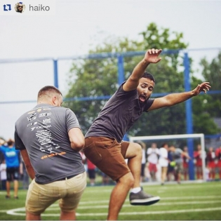 "@haiko how is your Monday :-D? ・・・ We win ""football drift"" competition )) with @whoismiller Thanks @matulaitis.lt for nice shot."