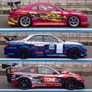 Saito (not that Saito), Fukada (finished 3rd) and @wynn_daisuke at @formulad Japan at Fuji Speedway earlier this month.