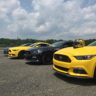 Smashing around in these brand new Mustangs at @etownracewaypark with @thehoonigans and @zumiez.