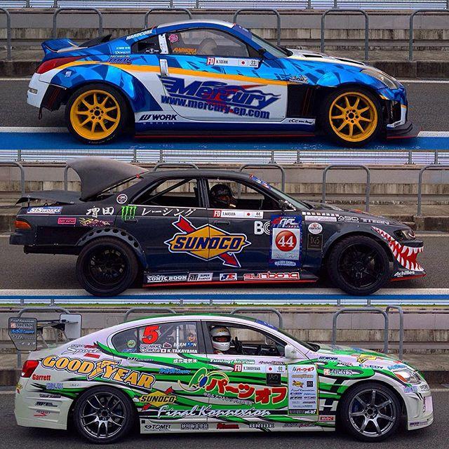 Totani Masuda and Takayama. #350z #jzx90 #gs300 #fdjp #fdworldchampionship #drifting #formulad