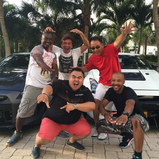 With my crew from Maryland @gtrmaniac @f117gtr @apac_auto @kuconnection in MIAMI FLORIDA