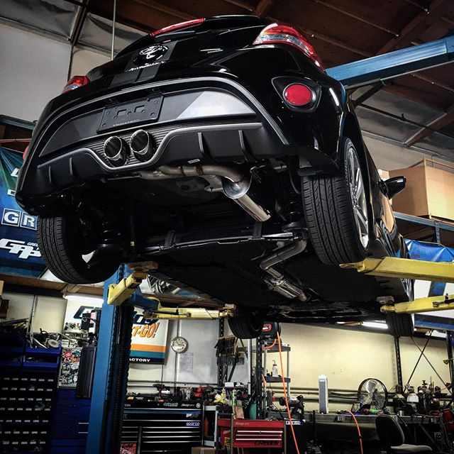 #intheGReddygarage today, our prototype #Hyundai #Veloster #SupremeSP exhaust. More info to come...