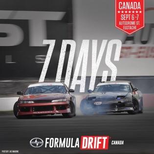 7 Days till we kick off @formuladriftcanada |