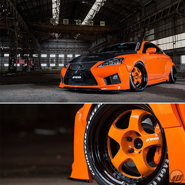 @aimgain_international Lexus ISF on WORK Meister S1 F:19x10J -14mm / R:19x11.5J -14mm (new color: Orange Alert) #artofwheel