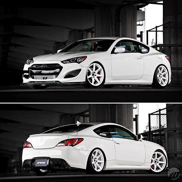 @apgarage.jp Hyundai Genesis on WORK Emotion T7R F:19x9.5J / R:19x10.5J #artofwheel