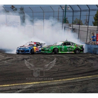 "@jaycanterphotography ""Two drivers with the most style in all of formula d. Forrest even lifting his front off the ground during his transition."""