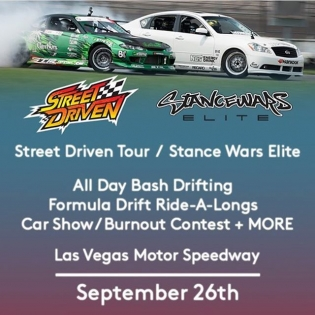@streetdriventour is coming to Vegas! For those of you on the west coast that want to experience tandem slide alongs with myself and @forrestwang808 now is your chance! Well, I guess September 26th is your chance... See you there!