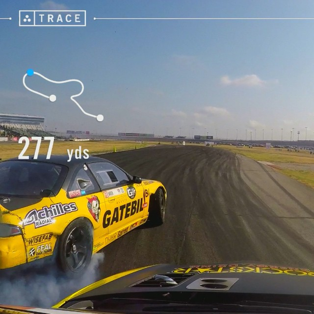 Battling my @gatebil_official team mate @fastkenny22 during #FDTX practice! GPS drift video courtesy of #Trace and #GoPro.