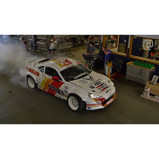 Check out the latest episode of #GarageTours where your host @chrisforsberg64 shows you around @namelessperformance The crew behind my Formula Drift​ effort keeping our Scion​ FRS slaying tires on the track at each round. After the tour we had to christen the shop with a solid burnout. Hit the link in my profile for the video. @networka @valvoline #GarageBurners