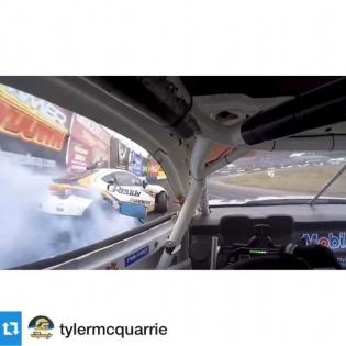 Cool car to car view of the @greddyracing X @hankookusaracing x @scionracing FR-S at via a from @tylermcquarrie