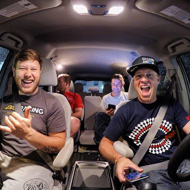 It's @tylermcquarrie and we made it to Texas!! @patmordaunt is shocked that it is raining lol! #gopro #hero4session #mobil1 @falkentire @runbc @advancedclutch @jrishocks @erl_performance @clpmotorsports @aimsportsdata @aemelectronics @aero_paint @aeromotive @nitrousexpress @ompracing @forgestar @tsandtops @chevroletperformance @connetic