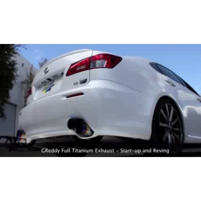 Lexus IS-F full Titanium Exhaust - Just a few GReddy Racing Ti left in stock. Take advantage of our free shipping offer on #ShopGReddy.com #Lexus #ISF #TitaniumExhaust #ShopGReddyExclusive